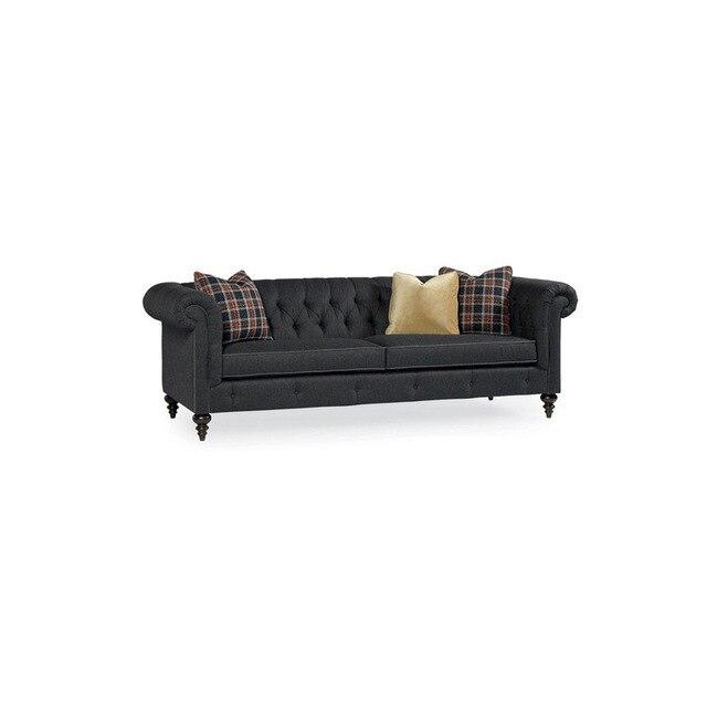 Divano classico divano con pelle vintage per stile antico divano ...