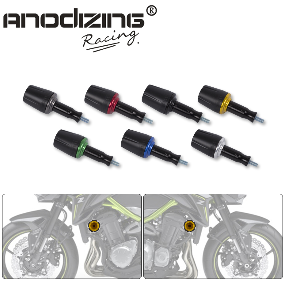 Free Shipping-CNC motorcycle for kawasaki z900 z 900 2017 Frame Sliders Crash Pads Falling Protector motorbike accessories parts motorcycle cnc aluminum frame sliders crash pads protector suitable for kawasaki z800 2012 2013 2014 2015 2016 green