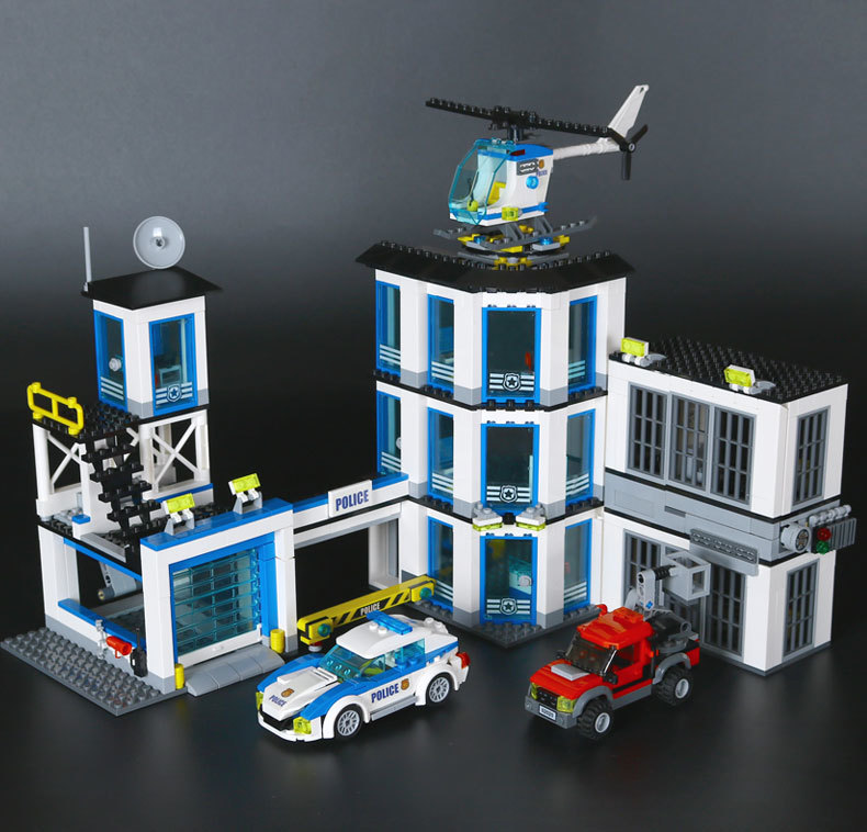 Lepin 02020 965Pcs City Series The New Police Station Set Building Blocks Bricks Model DIY Educational Toys For Children 60141 lepin 02006 815pcs city police series the prison island set building blocks bricks educational toys for children gift legoings