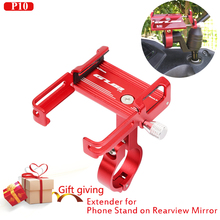 Mobile Phone Holders Stands Bike bicycle motorcycle phone holder aluminium gubP10 Suitable rearview mirror Extender stand