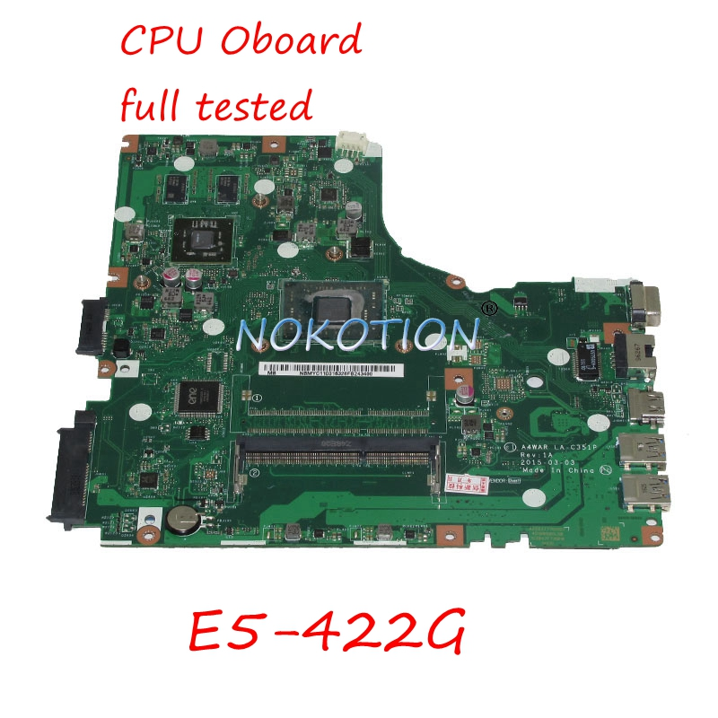 NOKOTION NBMYC11001 NB MYC11 001 laptop motherboard For font b acer b font aspire E5 422G