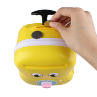Cute Meng Baby Automatic Roll Music Trolley Case Password Box Child Piggy Bank