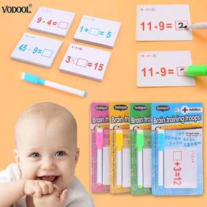 Erasable-Pen Mathematics Preschool-Tool Teach-Card Educational-Toys with for Children