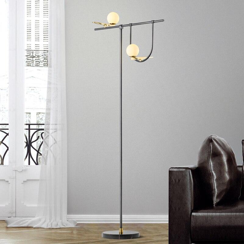 Скандинавский стиль спальня торшер Железный Современный Креативный кабинет пол свет простой кофе чтение стоячие лампы для гостиной
