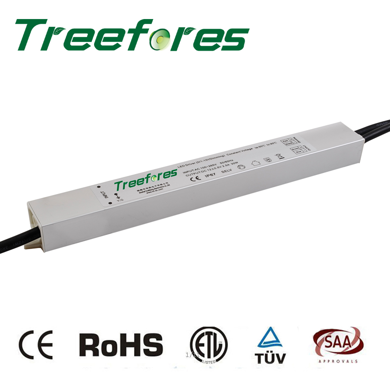 30W 60W 80W 100W 120W 150W 0-10V PWM Dimmable DC 12V IP67 Led Transformer Power Supply Dimming LED Driver Adapter ввод питания для шинопровода левый 09739 uniel ubx a02 black