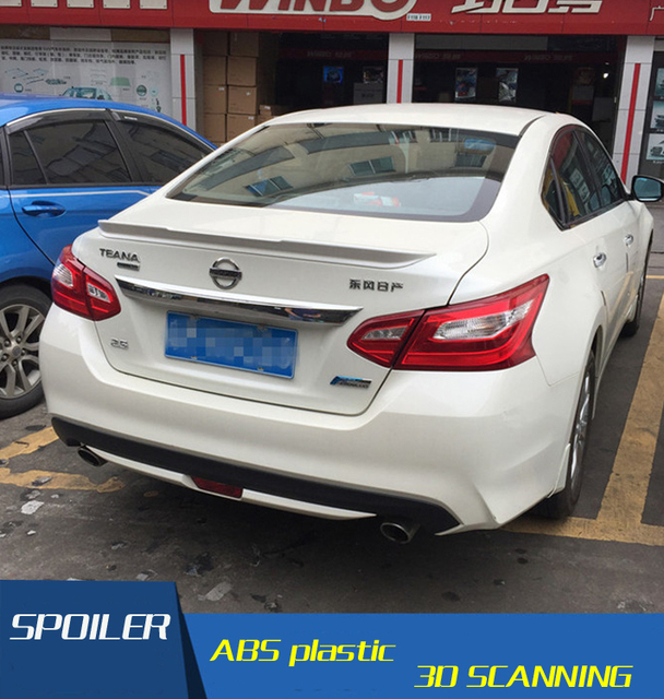 For Altima Spoiler Abs New Material Car Rear Wing Primer Color Nissan 2016