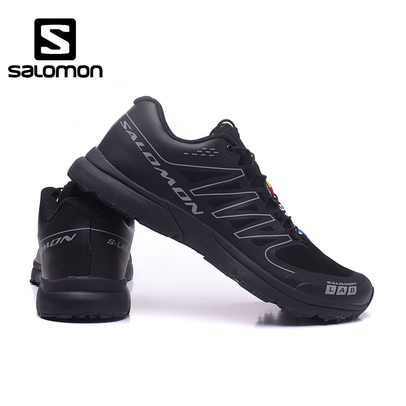 Salomon S-LAB Black SENSE M Men Shoes Outdoor Jogging Sneakers Lace Up Athletic Shoes Fencing Breathable Low Shoes size 40-46