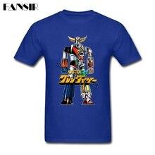 Latest Men T-shirts Mazinger Z UFO Robot Grendizer Short Sleeved Pure Cotton O Neck T-shirt For Male Shirts