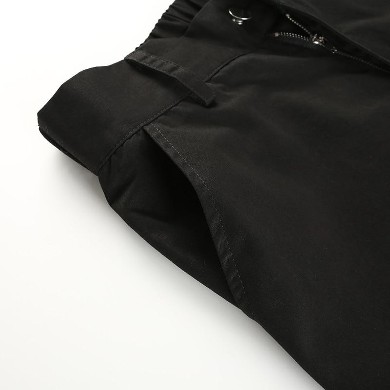 ... 10Sweetown Plus Size Harajuku Cargo Pants Women Black High Waist Pantalon  Bomber Femme Street Style Womens ... e3f009dc835b