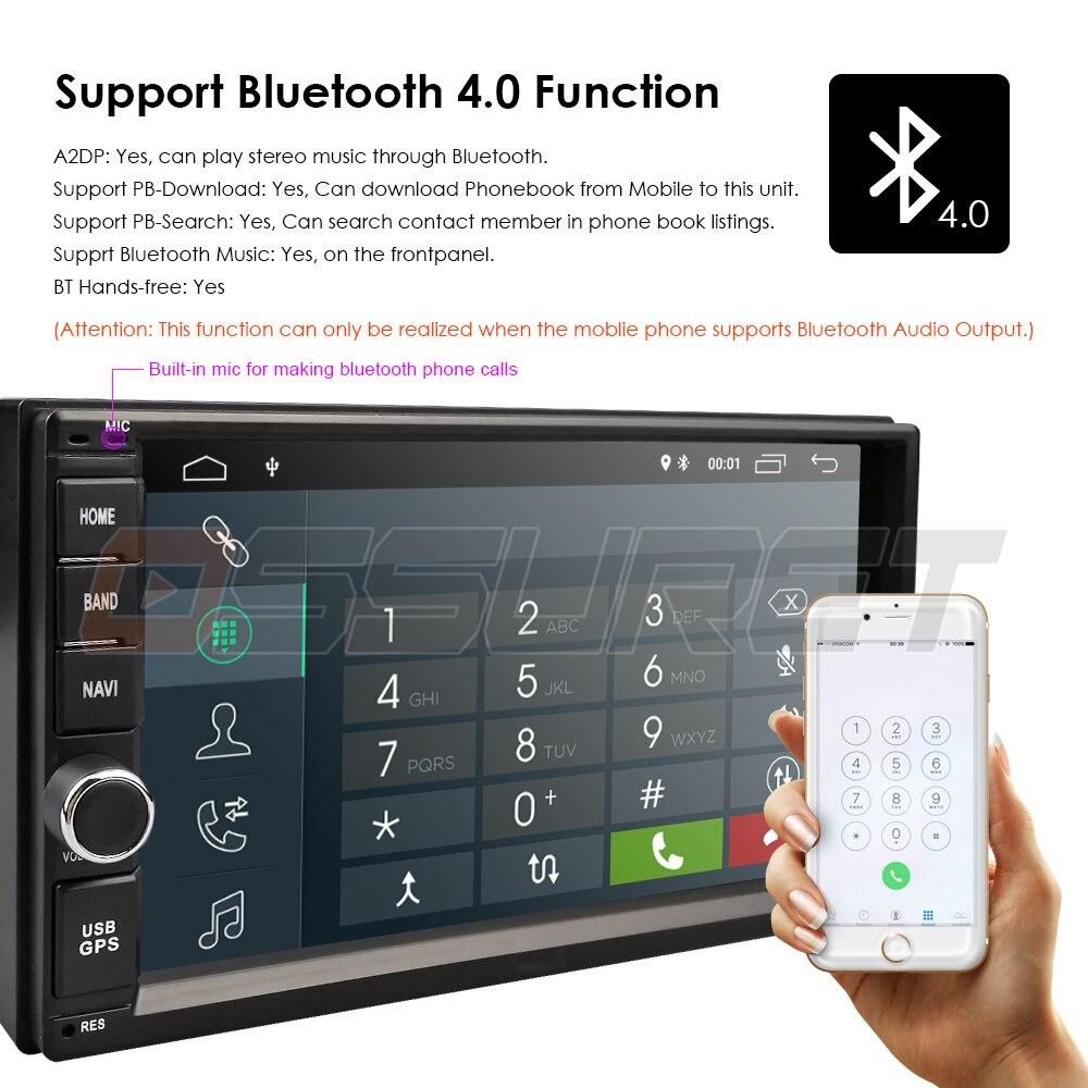 2G ram Android 9,0 авто радио четырехъядерный 7 дюймов 2DIN универсальный автомобильный без dvd-плеера gps стерео аудио головное устройство поддержка DAB ...