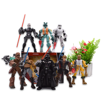 цена на 8 styles Hero Mashers Chewbacca Bossk Darth Vader Greedo Stormtrooper Anakin Skywalker Action Figure PVC Collectible Model Toys