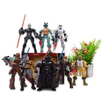 Figuras de acción de Hero Mashers, Chewbacca, Bossk, Darth Vader, Greedo, Stormtrooper, Anakin Skywalker, juguetes de modelos coleccionables en PVC, 8 estilos