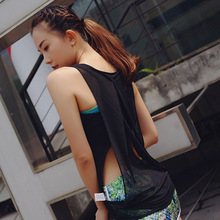 CHU YOGA 2018 Summer Yoga Shirts Women Sleeveless Fitness Tank Top Hollow Out Back Mesh Breathable Vests Gym Clothes  V1403
