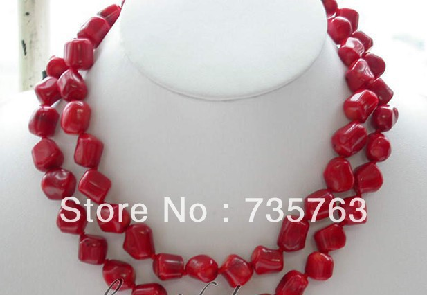 xiuli 00695 beautiful 33″ 13mm nature massive red coral necklace Chains Bridal Jewelry momen