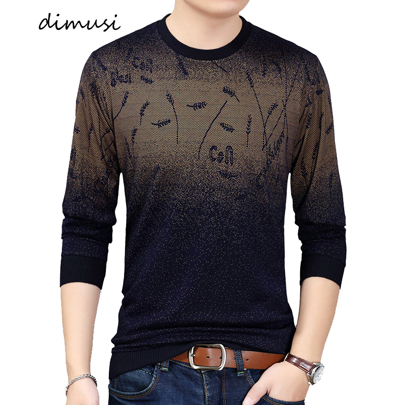 DIMUSI Autumn Winter Mens Sweater Shirt Casual Social Men Wool Pullover Sweater Men's Slim Knitwear Pull Sweaters Clothing 3XL