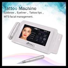 고품질 영원한 메이크업 기계 디지털 Artmex V8 터치 문신 기계 세트 눈썹 립 로터리 펜 MTS 시스템 문신 총