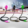 Lazy Bracket charging cable Stand Up Phone With USB Cable Holder in One for iPhone Android