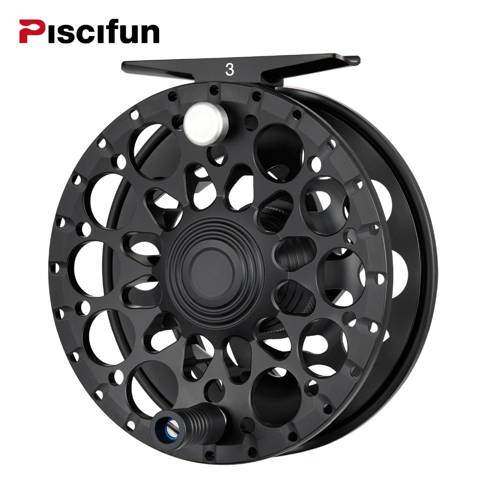 Piscifun Crest Black Fly Reel Fully Sealed Drag CNC Machined Aluminium Alloy Right Left Hand Retrieve Fly Fishing Wheel колесные диски ion alloy dually 166 matte black wheel with machined face 16x6 8x170mm