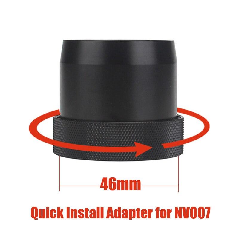 Conception originale 46mm rapide installer adaptateur baïonnette pour PARD NV007 Vision nocturne portée caméra rapide installer adaptateur de support