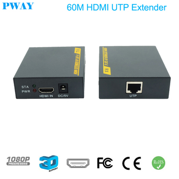 1080P 3D HDMI Extender TX/RX 60M  over CAT6 RJ45 Ethernet Cable Support HDMI 1.3 hdmi extender rj45