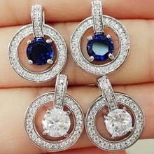 Europe and the United States popular jewelry counters quality wild circle zircon earrings