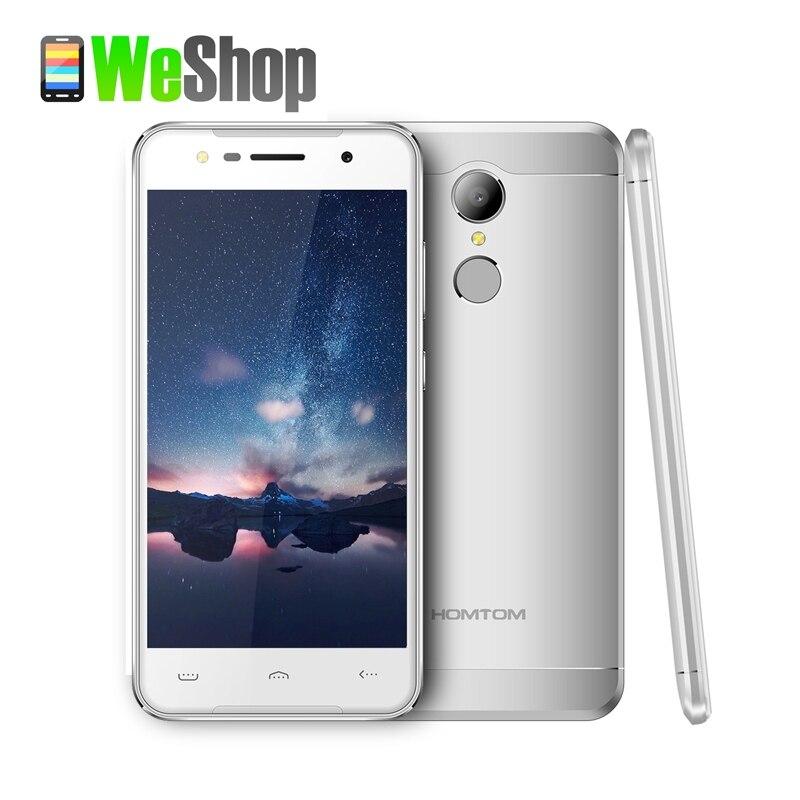 Цена за Оригинал homtom ht37 смартфон mtk6580 quad core 1.3 ГГц 16 ГБ 13mp rom 2 ГБ ram 5.0 дюймов hd отпечатков пальцев 3000 мАч мобильного телефона