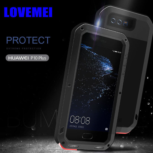 new concept ac118 607e3 US $33.39 |For Huawei P10 Plus Original Lovemei Aluminum Metal + Gorilla  Glass Shock Drop Waterproof case for HUAWEI P10 / P10 Plus HP101-in Fitted  ...