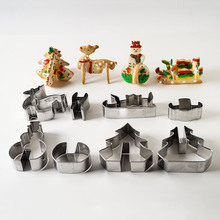 8 Pcs Unique 3D Christmas Scenario Cookie Cutter set