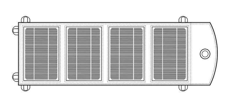 14W 5V solar panel