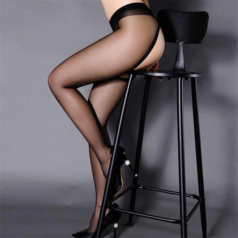 Wanita Seksi Pantyhose Stocking Celana Ketat Wanita Seksi Hitam Nilon Pantyhose Terbuka Selangkangan Erotis Stoking Transparan Kaus Kaki Stocking