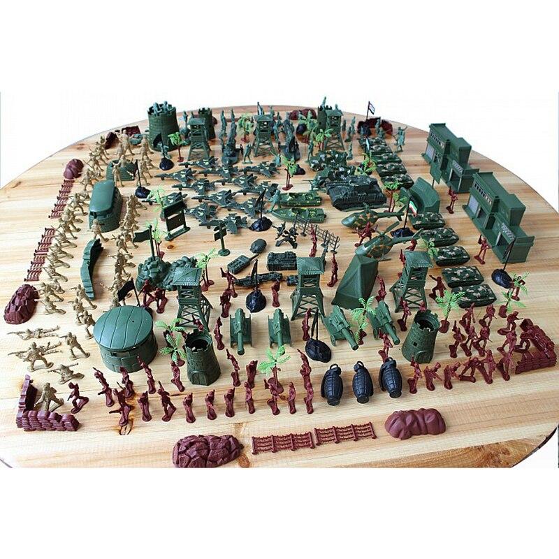 310 шт World WarII Военная пластиковая солдатская армейская Мужская фигурка и аксессуары игровой набор солдатская модель песочница игровая модел... - 4
