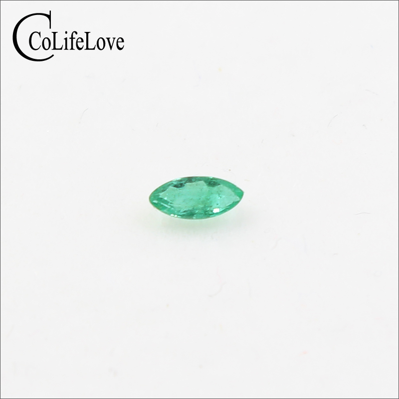 2 Mm * 4 Mm Natural SI Grade Emerald Loose Gemstone Marquise Cut Real Emerald Loose Gemstone for Jewelry DIY