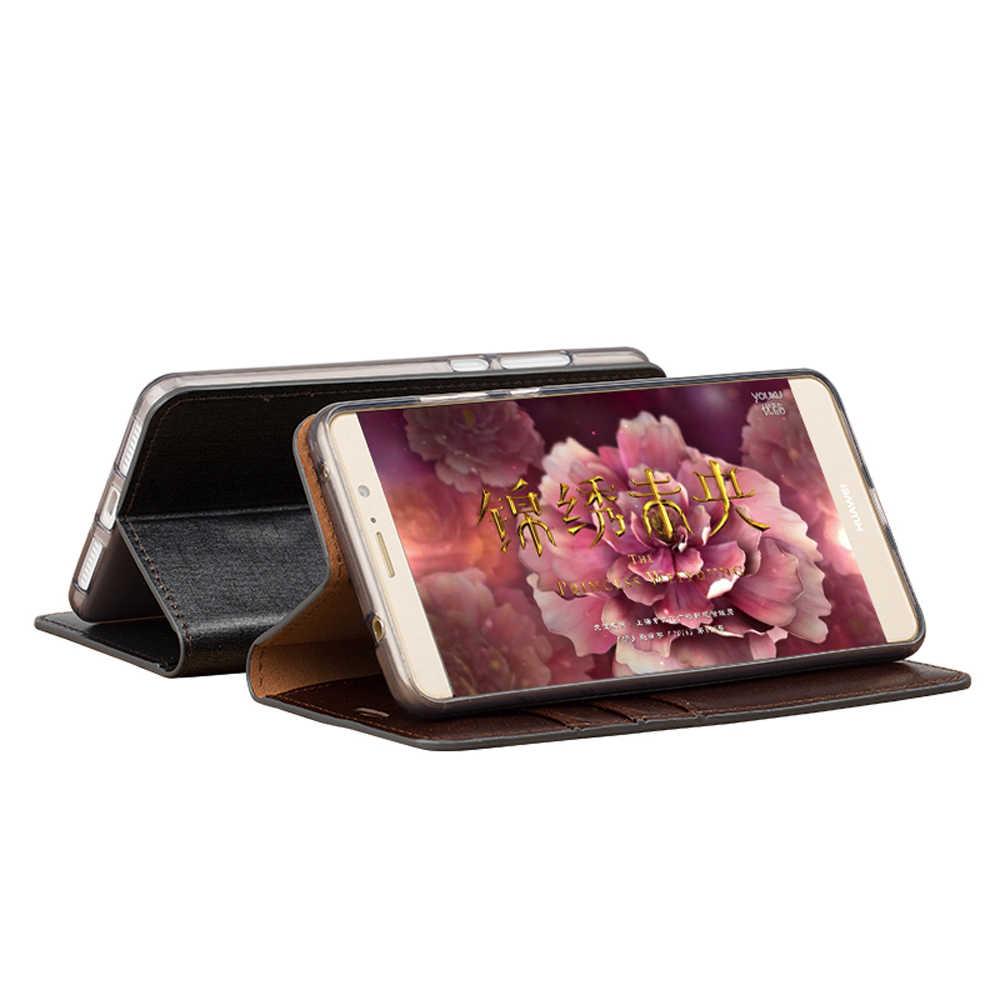 Чехол-книжка из натуральной кожи в деловом стиле с тремя слотами для карт, для Xiaomi Redmi 4, силиконовый Внутренний чехол со стразами, кожаный чехол
