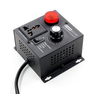 Image 2 - EU Plug AC 220V 4000W SCR Electronic Voltage Regulator Temperature Motor FAN Speed Controller Dimmer Electric tool Adjustable