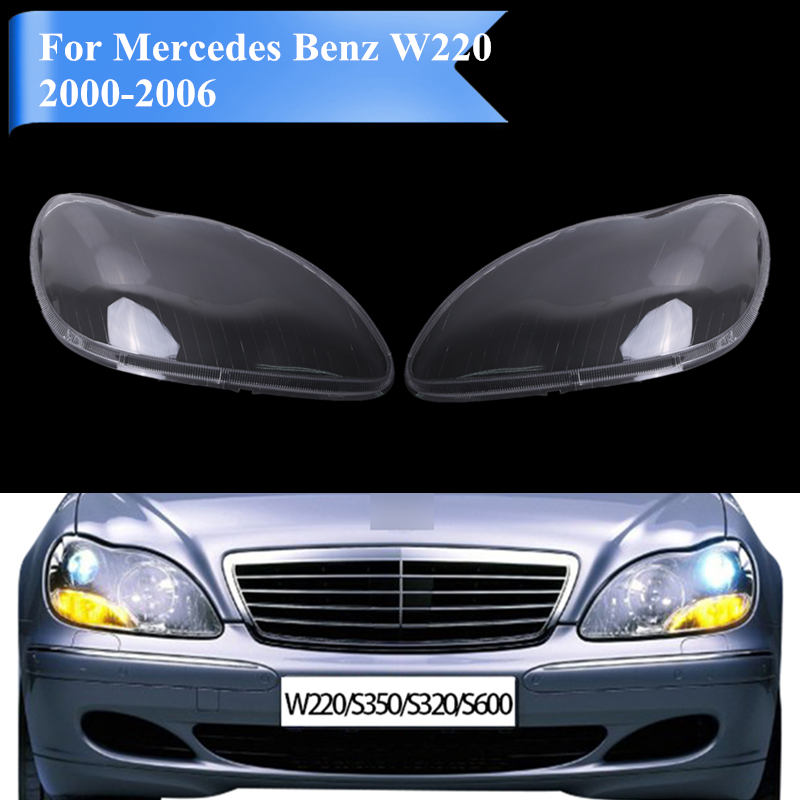 for mercedes w220 headlight lens shell headlamp cover for mercedes benz mb s350 s600 s430 s500. Black Bedroom Furniture Sets. Home Design Ideas