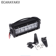 цена на ECAHAYAKU 1pcs 5D Double row 7 inch 60W LED work Light Bar Off-road Spot Flood Beam fog driving lights 12v 24v Truck SUV ATV 4x4