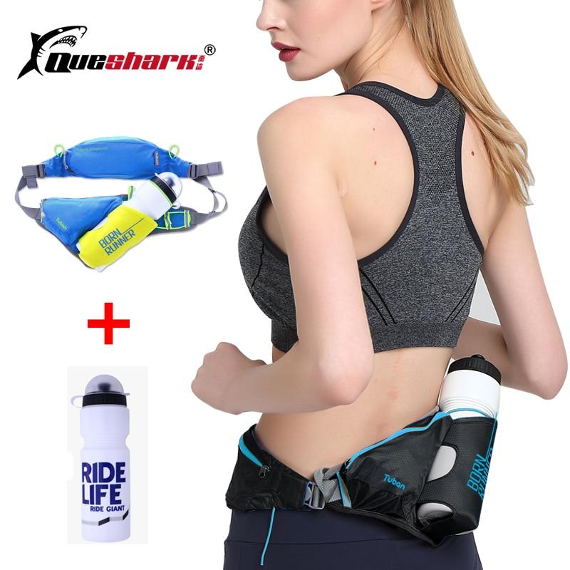 Reflective Waist Belt Pack Marathon Running Bag Jogging Walking Cycling Waist Bag Climbing Hiking Sport Bag +750ml Water Bottle