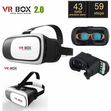 VR Box 2.0 3D Virtual Reality Glasses Goggle Headset Helmet For Smart Phone Lense Google Cardboard White