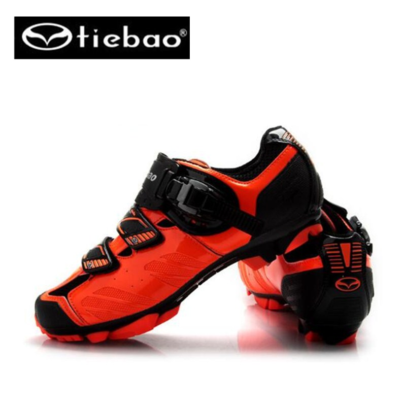 ФОТО Mountain Bike Shoes Tiebao Racing Men MTB Bicycle Cycling Shoes Self-Locking Nylon-Fibreglass Riding Shoes zapatillas ciclismo
