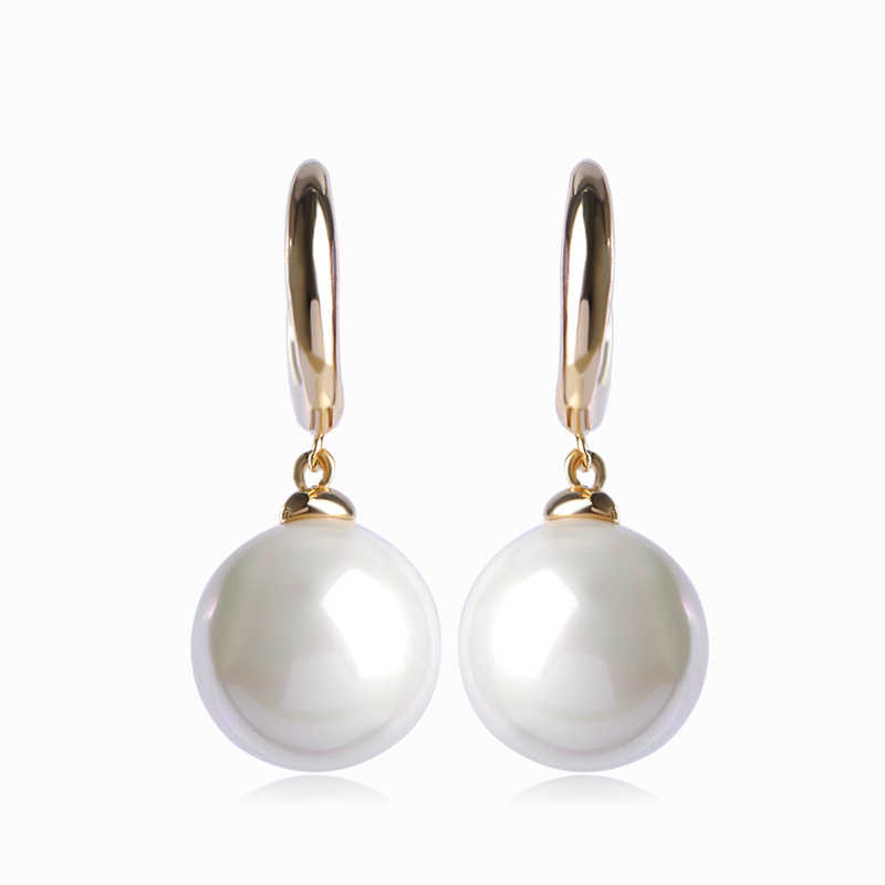 Noble Fashion White Pearl Drop Earrings For Women Brincos Peauenos Ear Piercing Pendientes Aretes Perfumes Lady Wedding Earring
