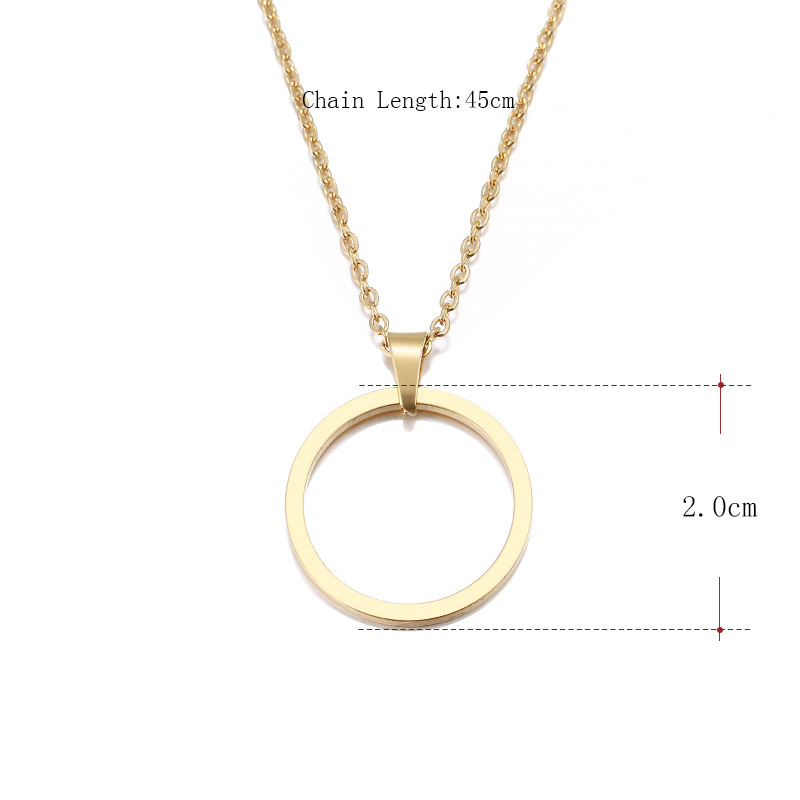 DOTIFI Stainless Steel Necklace For Women Lover's Casual Personality Circle Lariat Pendant Necklace High Quality Simple Choker 1