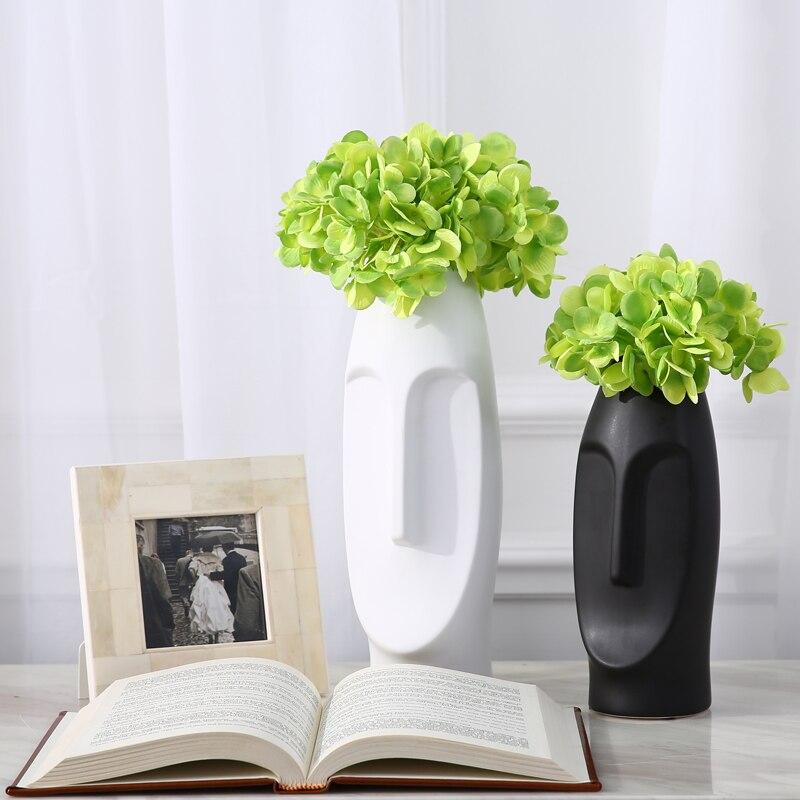 Uomo Faccia Fiore Vaso di ceramica Creativa Contemporanea Vasi Vasi Decorativi Con Fiori ArtificialiUomo Faccia Fiore Vaso di ceramica Creativa Contemporanea Vasi Vasi Decorativi Con Fiori Artificiali