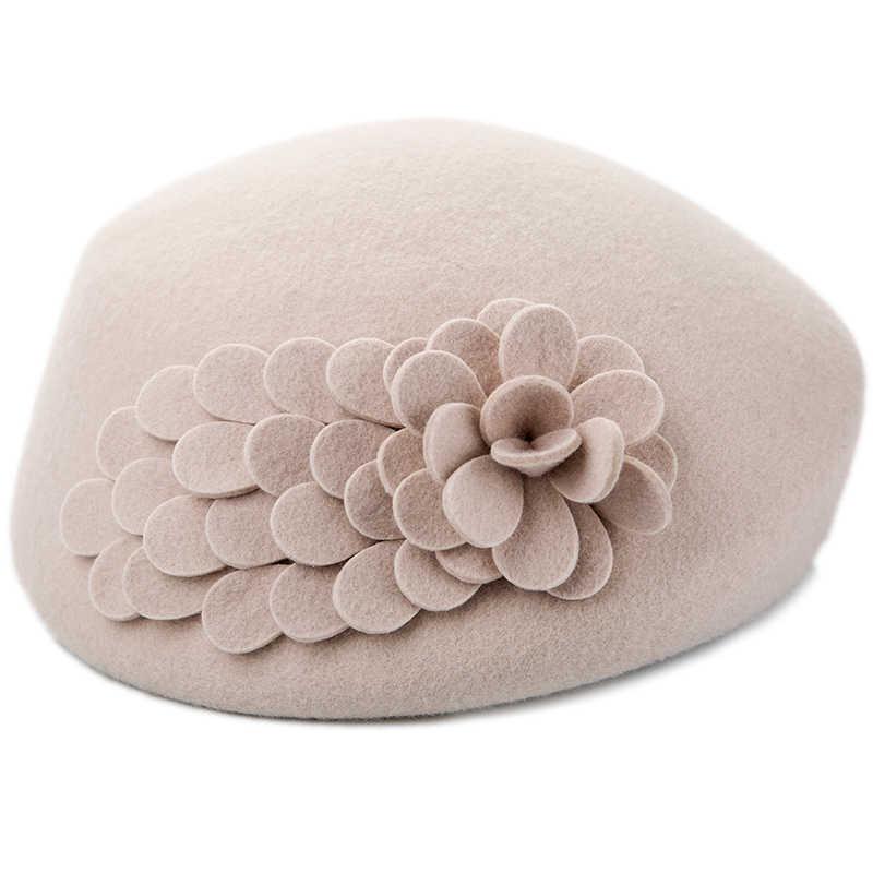 Дамский берет шапки на осень и зиму для женщин французский художник плоская кепка 2019 новый уникальный дизайн элегантный шерстяной фетр шляпа леди т девушки береты