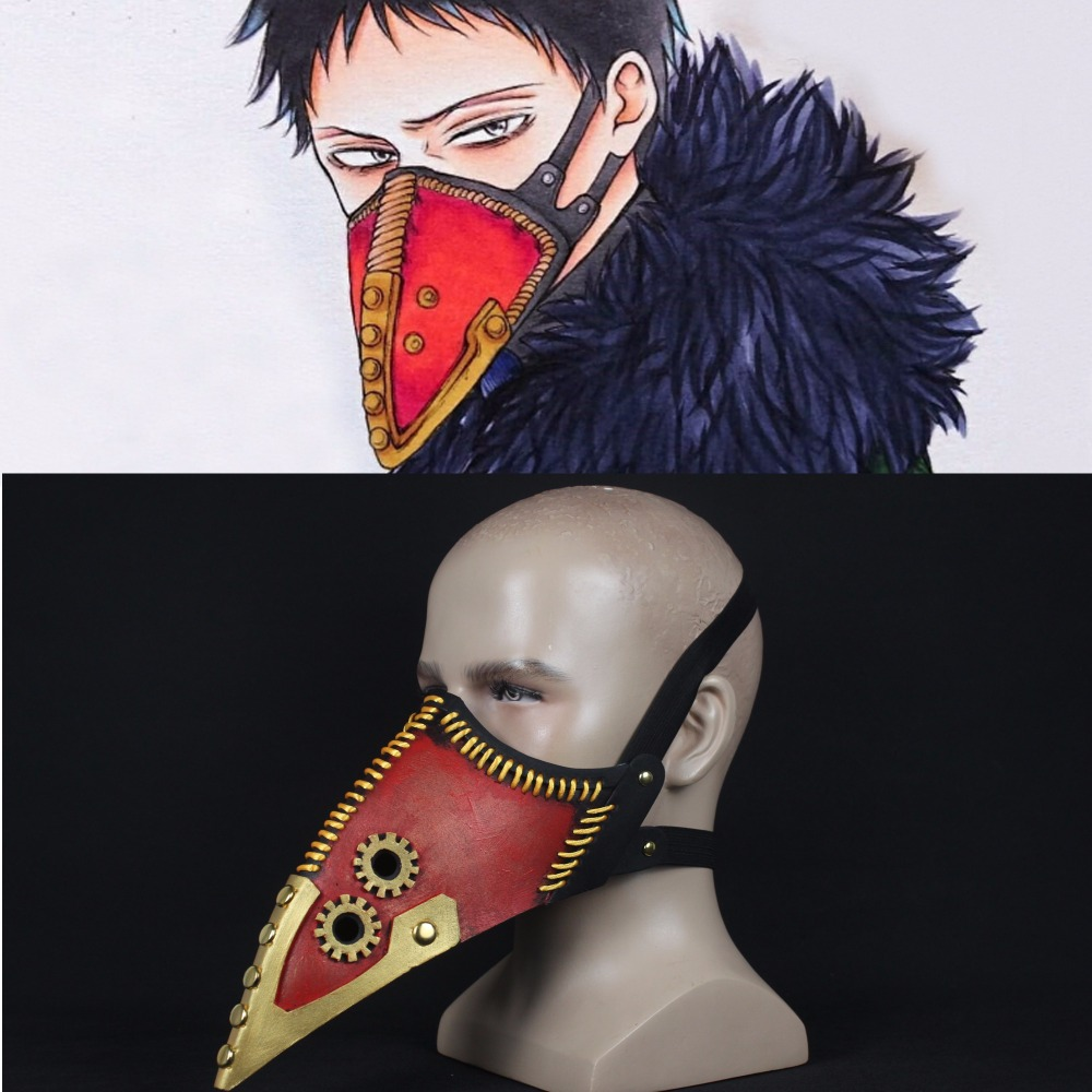 Anime My Hero Academia Overhaul Mask Cosplay Crow Mouth Plague Doctor Halloween Masks Steampunk Face Long Beak Gothic Helmet