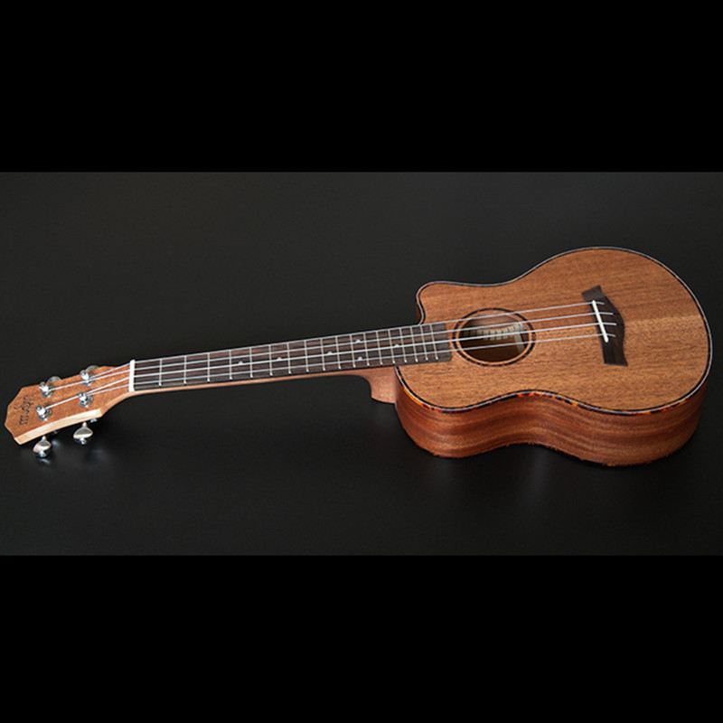 SevenAngel 23 inch Concert Mahogany Ukelele Missing Angle Ukulele Hawaiian 4 Strings Guitar Electric Uku with Pickup EQ 23ukulele concert mini hawai guitar mahogany body fishing bone pattern electric ukelele with pickup eq uku gitara