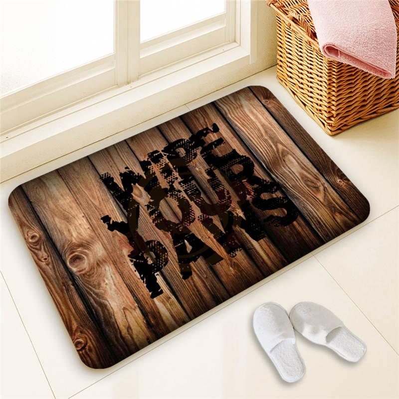 Hot Sale Custom Wipe Your Paws Door Mat Art Design Pattern Printed