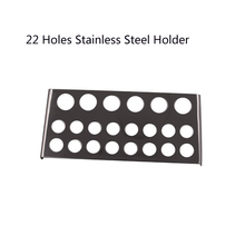 Tattoo Pigment Container Stand 7 /22Holes Ink Cup Holder Professional Permanent Lip Eyebrow Makeup Stainless Steel Tattoo Supply 7 holes pigment container stand tattoo accessories supplies stainless steel tattoo permanent makeup ink cup holder