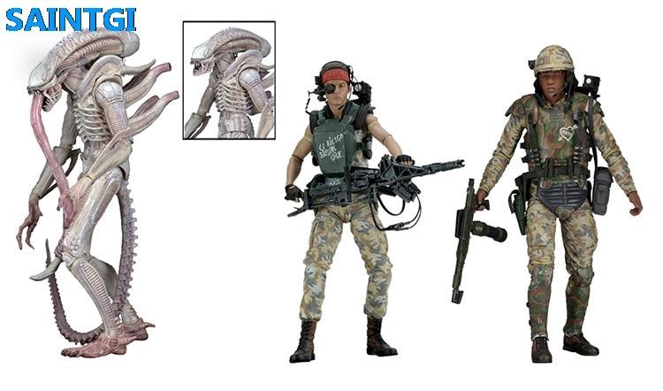 SAINTGI Alien:Covenant Alien vs. Predator Alien Animated PVC 19CM Action Figure Collection Model Dolls Kids Toys neca 2 pack alien vs predator action figure set 7