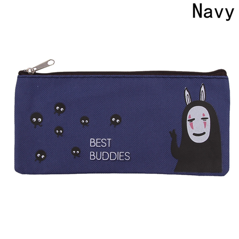 Hot Sale Anime Series Canvas Cosmetic Bag Large Capacity Pencil Case Casual Student Canvas Zipper Accessories Bag big capacity high quality canvas shark double layers pen pencil holder makeup case bag for school student with combination coded lock