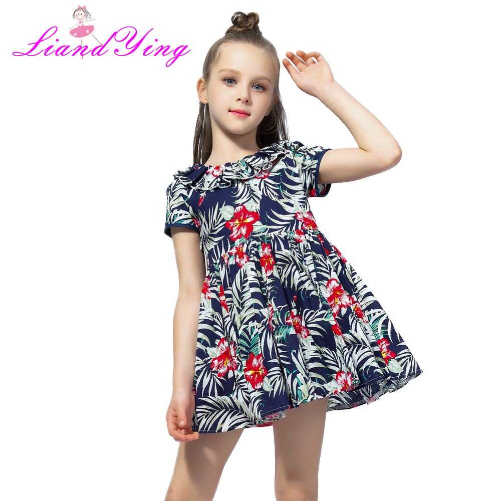 Flower Girls Dress Summer Baby Girl Clothes Teen Ropa Baby Children Summer Dress Cotton Casual Dresses
